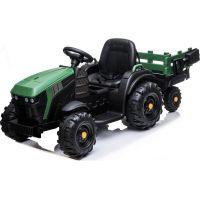 Made Dětské elektrický traktor s přívěsem 12V dva motory MP3