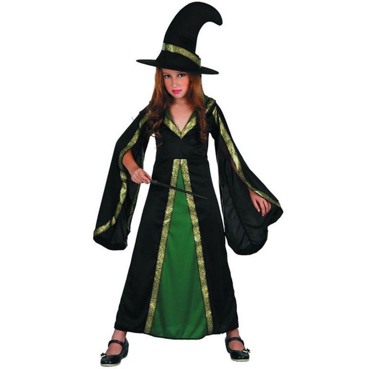 Made Dětské šaty na karneval čarodějka 120 - 130 cm