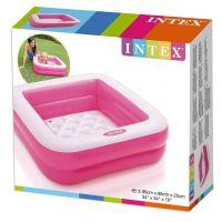 Intex 57100 Dětský bazének čtverec - Růžová 3