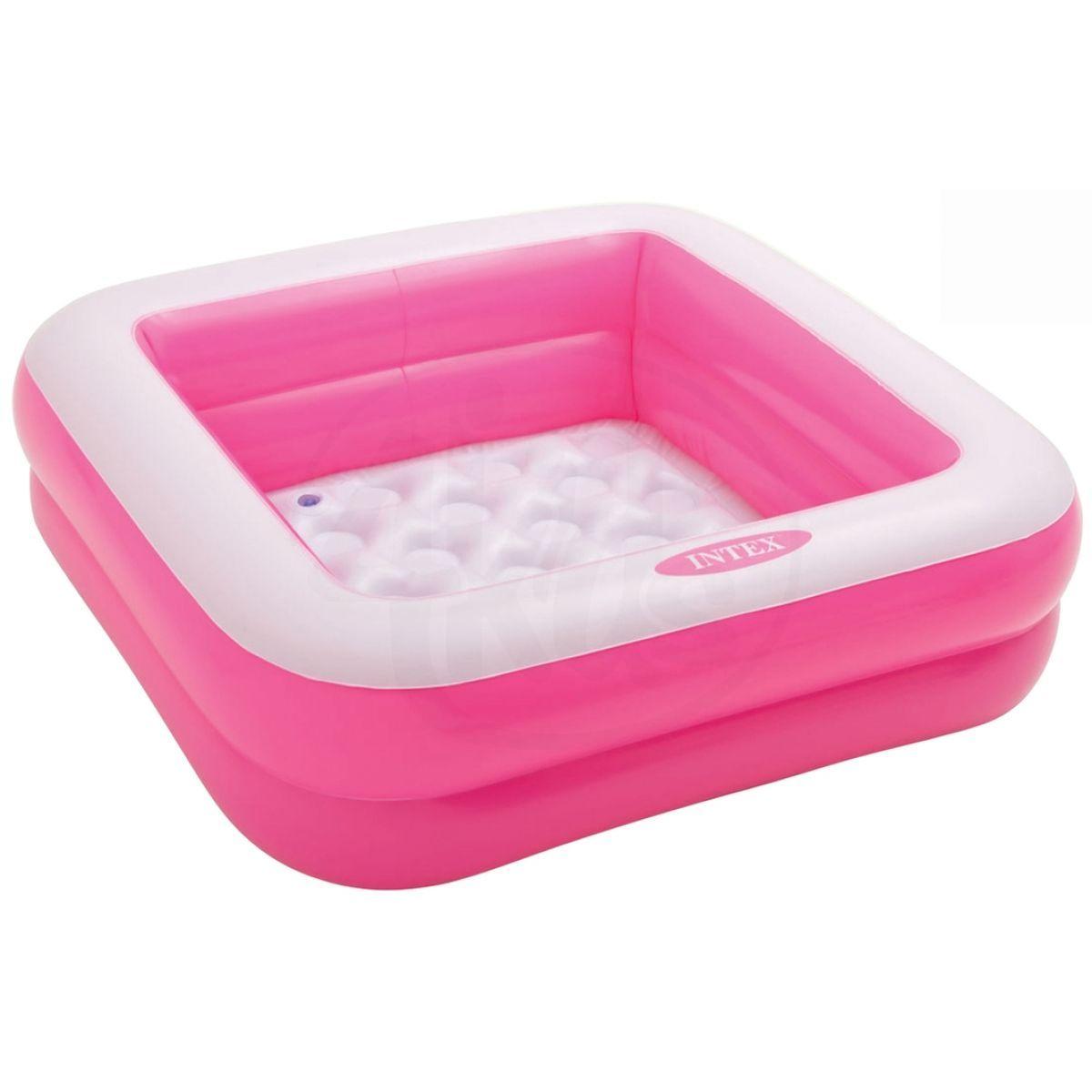 Intex 57100 Dětský bazének čtverec - Růžová