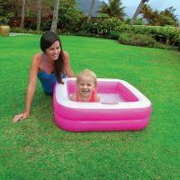 Intex 57100 Dětský bazének čtverec - Růžová 2