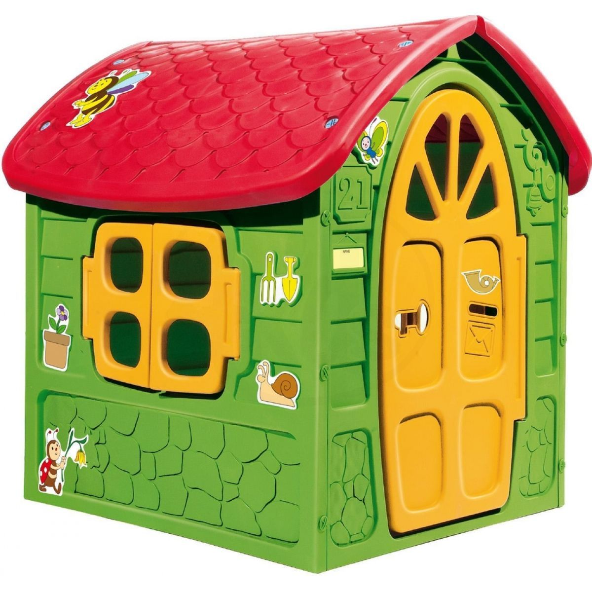 Dohány dětský zahradní domek 5075 zeleno-červený