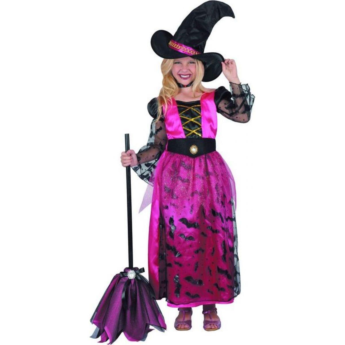 Made Dětský karnevalový kostým Čarodějka 120-130 cm