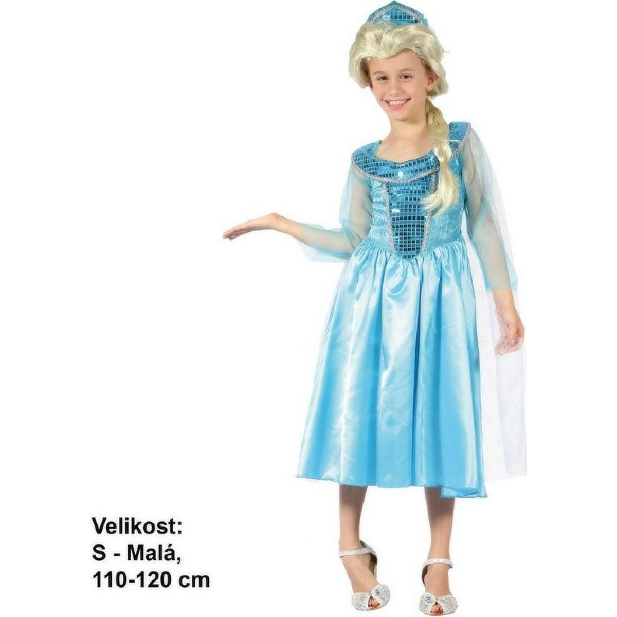 Made Dětský karnevalový kostým Ledová princezna 110 - 120 cm