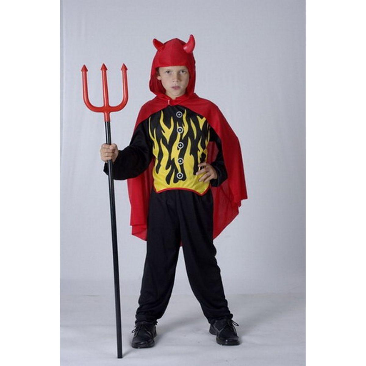 Dětský kostým Čert Lucifer 120 - 130 cm