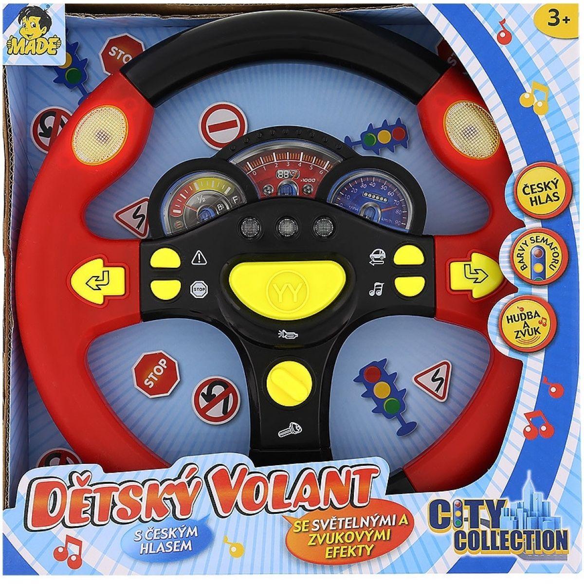 Made Dětský mluvící volant - Červená
