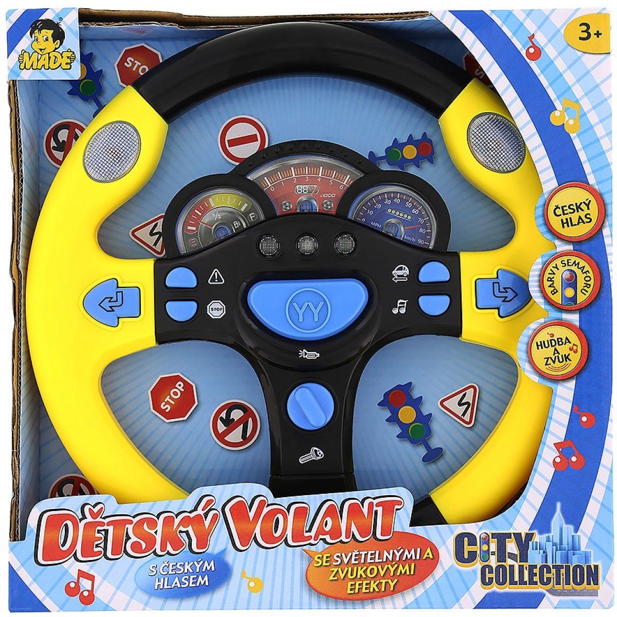 Made Dětský mluvící volant - Žlutá