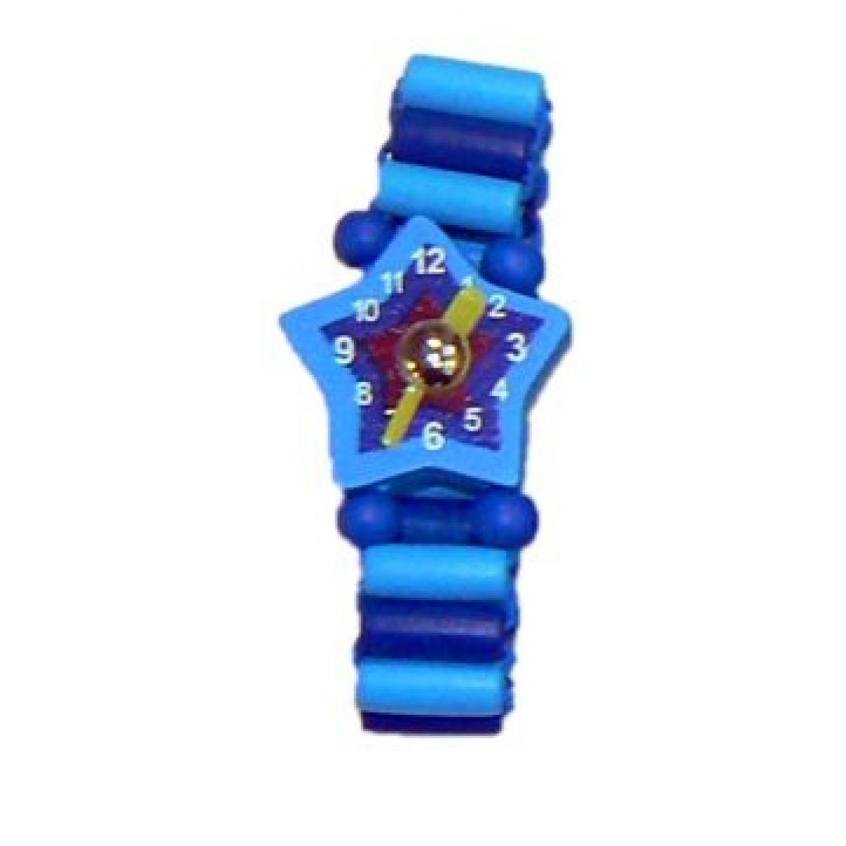 Dřevěné náramkové hodinky - Modrá