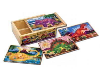 Melissa & Doug  62879 - Puzzle 4 v 1, dinosaurus