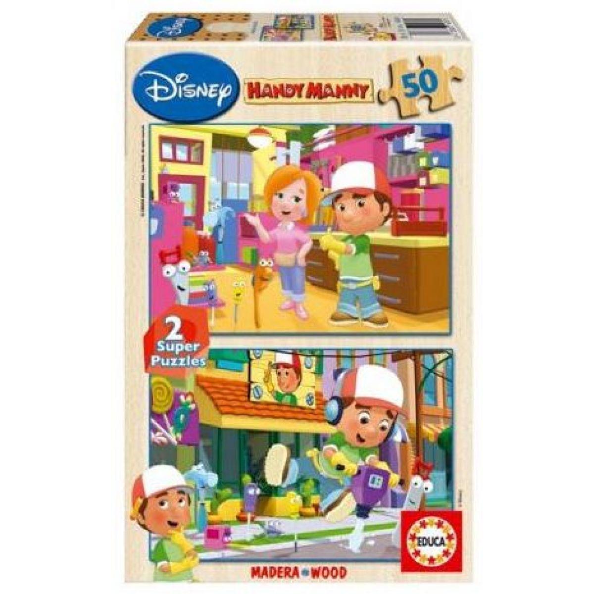Dřevěné puzzle Handy Manny