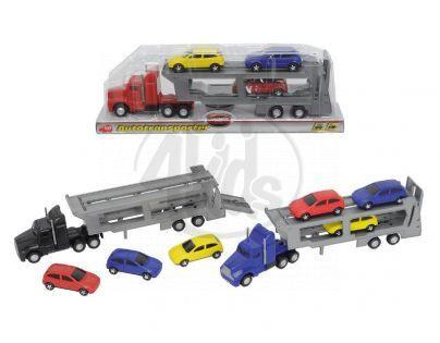 DICKIE D 3414759 - Auto transportér 32cm + 3 auta, 3 druhy