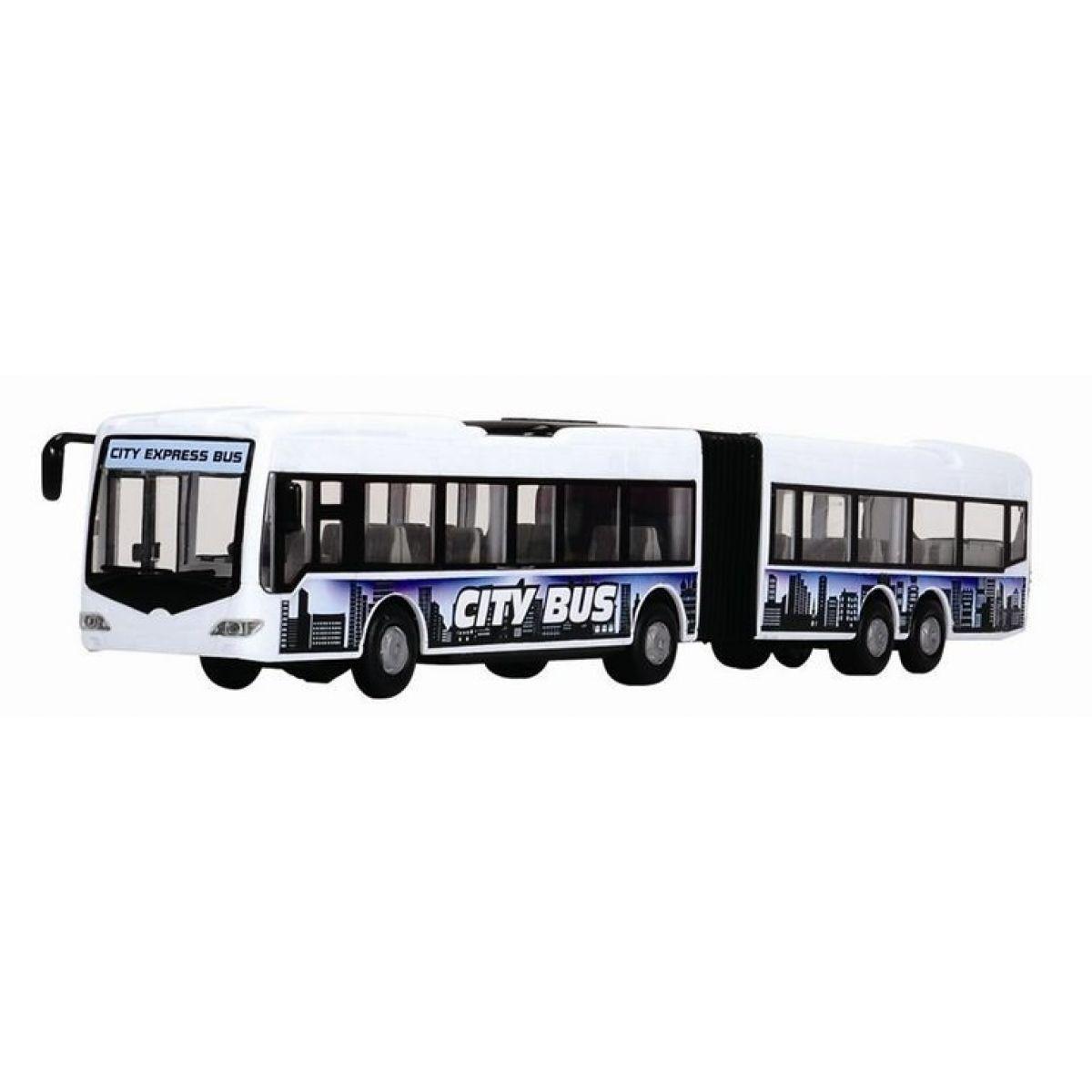 Dickie Autobus City Express Bus - Bílo-modrá