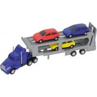 Dickie Autotransportér a 3 autíčka - Modrý