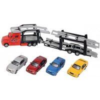 Dickie Autotransportér a 4 autíčka červený