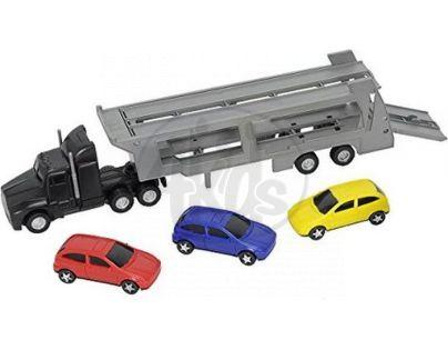 Dickie Autotransportér a 3 autíčka - Černý