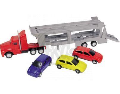 Dickie Autotransportér a 3 autíčka - Červený