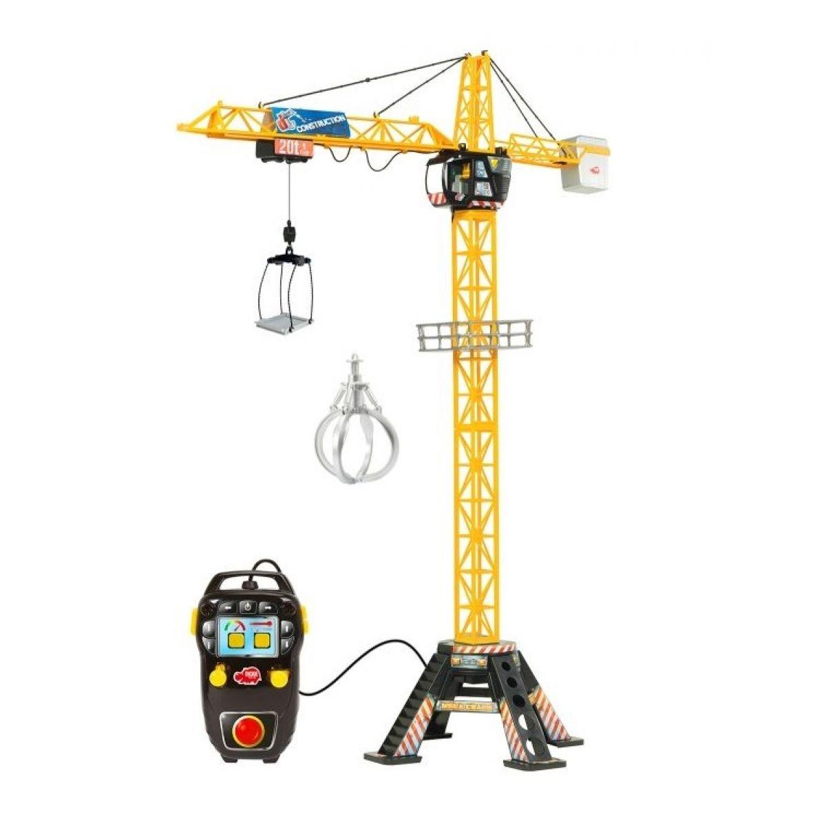 Dickie Jeřáb Mega Crane na kabel 120 cm - Poškozený obal