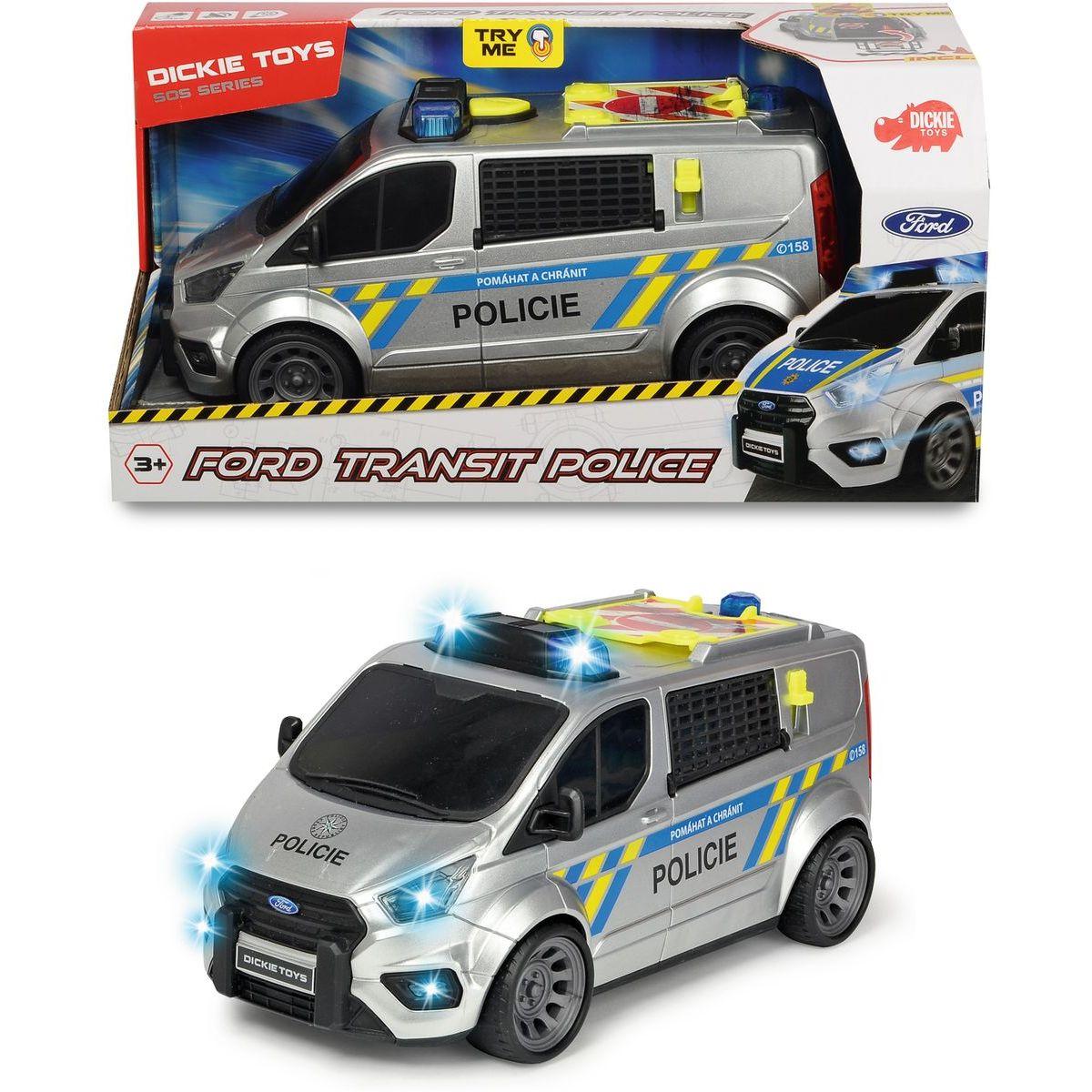 Dickie Policejní auto Ford Transit česká verze