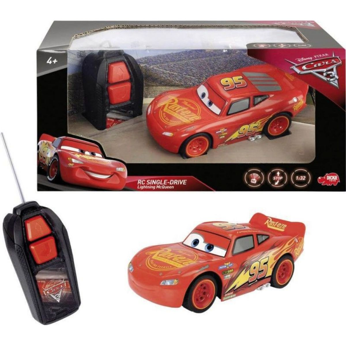 Dickie RC Cars 3 Blesk McQueen Single Drive 1:32