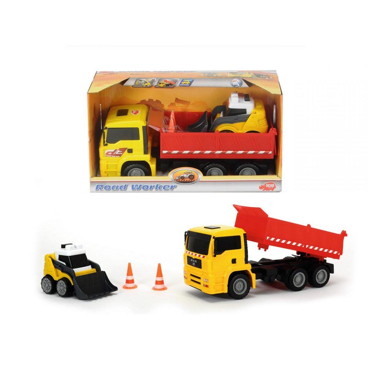 Dickie Set nákladní auto 28 cm s nakladačem