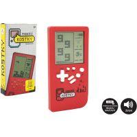 Digitální hra Padající kostky Tetris hlavolam 14 x 7 cm