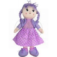 Dimian Panenka látková - Moje první Bambolina - šaty fialové