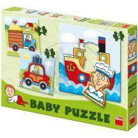 DINO 325029  - Autíčka Baby puzzle