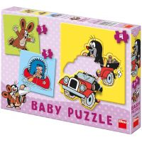 Dino Krteček Baby puzzle
