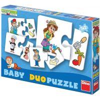 Dino Baby puzzle profese 2 x 9 dílků
