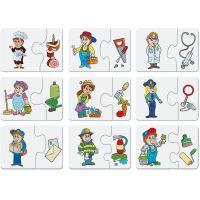 Dino Baby puzzle profese 2 x 9 dílků 2