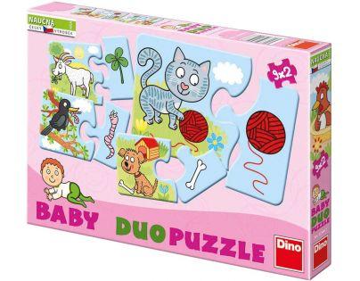 Dino Baby puzzle Zvířátka 9 x 2 ks