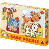 DINO 325036  - Zvířátka Baby puzzle