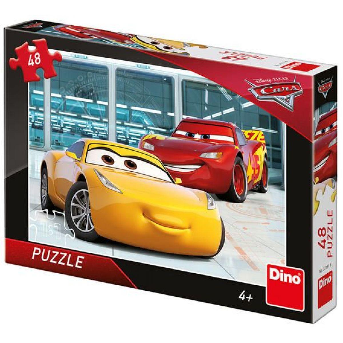 Dino Cars 3 Příprava puzzle 48 dílků