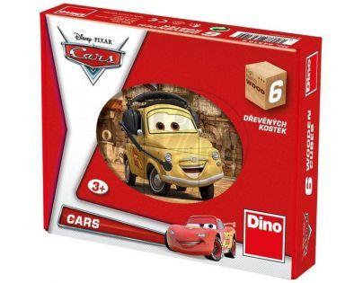 Dino Cars Dřevěné kostky Auta ve světě
