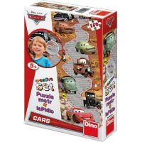 Dino Cars Puzzle Auta 150d a dětský metr