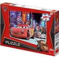 Dino Cars Puzzle Cars 2 Blesk McQueen v Tokiu 100XL dílků