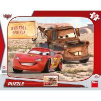 Dino Cars Puzzle deskové Blesk a Burák 12dílků