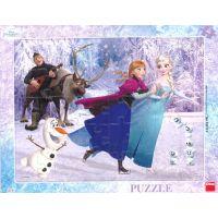 Dino deskové puzzle Frozen Na bruslích 40 dílků