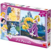 DINO 335042 - Puzzle Princezny (3 x 55 dílků)