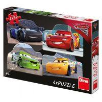 Dino Disney Cars 3 Rivalové puzzle 4 x 54 dílků