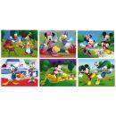 Dino Disney Dřevěné kostky Mickeyho klubík 12ks 2