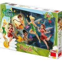 Dino Disney Fairies Puzzle Tanec s motýly 66 dílků