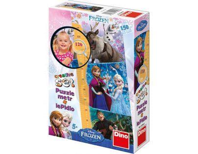 Dino Disney Frozen Puzzle Ledové královsví 150 dílků a dětský metr