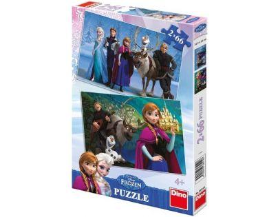 Dino Disney Frozen Puzzle Ledové královsví 2x 66 dílků