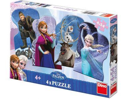 Dino Disney Frozen Puzzle Přátelé 4x 54 dílků