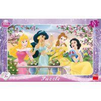Dino Disney Princess Puzzle deskové Princezny 15 dílků