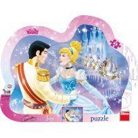 Dino Disney Princess Puzzle deskové Zamilovaná Popelka 25 dílků