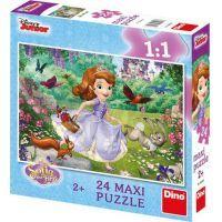 Dino Disney Princess Puzzle Maxi Sofie v parku 24 dílků
