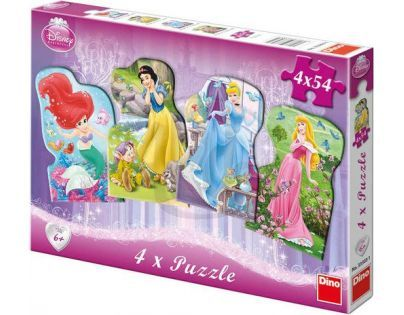 Dino Disney Princess Puzzle Princezny 4 x 54 dílků