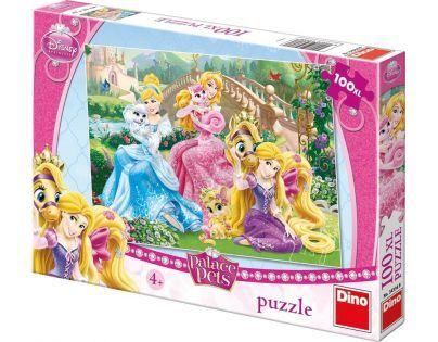 Dino Disney Princess Puzzle Princezny s mazlíčky 100 XL dílků
